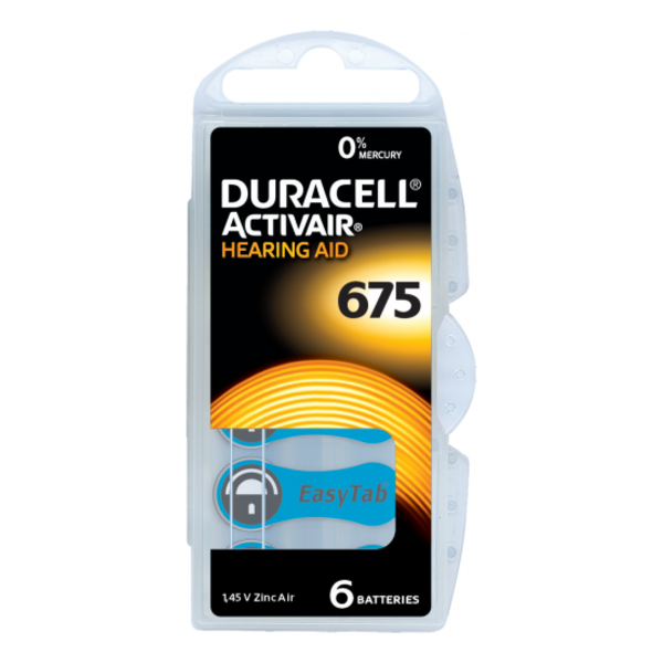 Hoorapparaat batterij DA675 blauw (6 stuks)