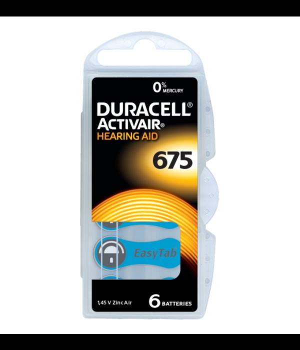 Duracell Hoorapparaat batterij DA675 blauw (6 stuks)
