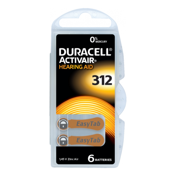 Hoorapparaat batterij DA312 bruin (6 stuks)