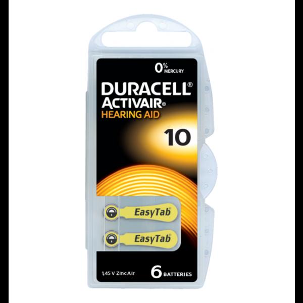 Hoorapparaat batterij DA10 geel (6 stuks)