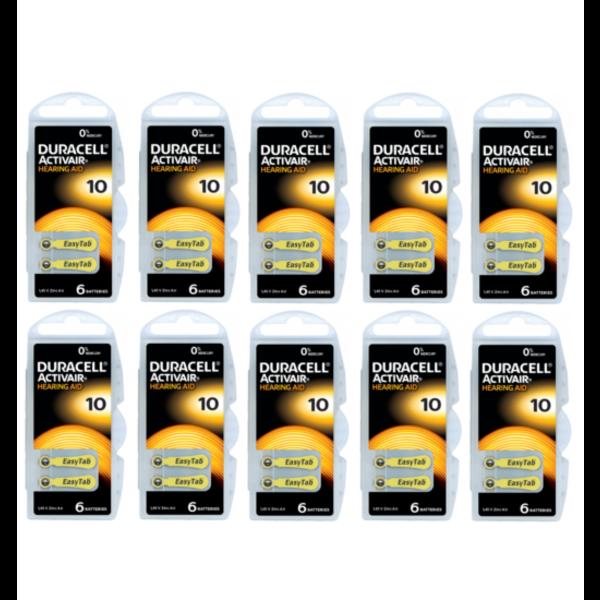 Hoorapparaat batterij DA10 geel (60 stuks)