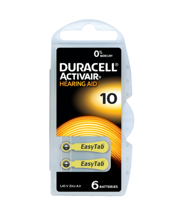 Duracell Hoorapparaat batterij DA10 geel (60 stuks)