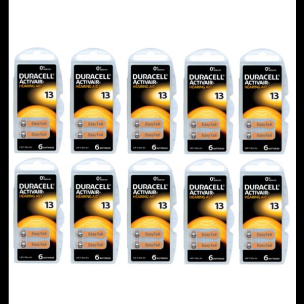Hoorapparaat batterij DA13 oranje (60 stuks)