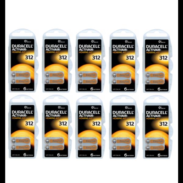 Hoorapparaat batterij DA312 bruin (60 stuks)