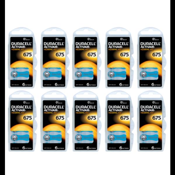 Hoorapparaat batterij DA675 blauw (60 stuks)