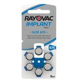 Rayovac Cochlear Implant Pro Plus + 675 BLAUW hoorbatterijen (6 stuks)