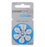 PowerOne Cochlear Implant Plus CI 675 BLAUW hoorbatterijen (6 stuks)