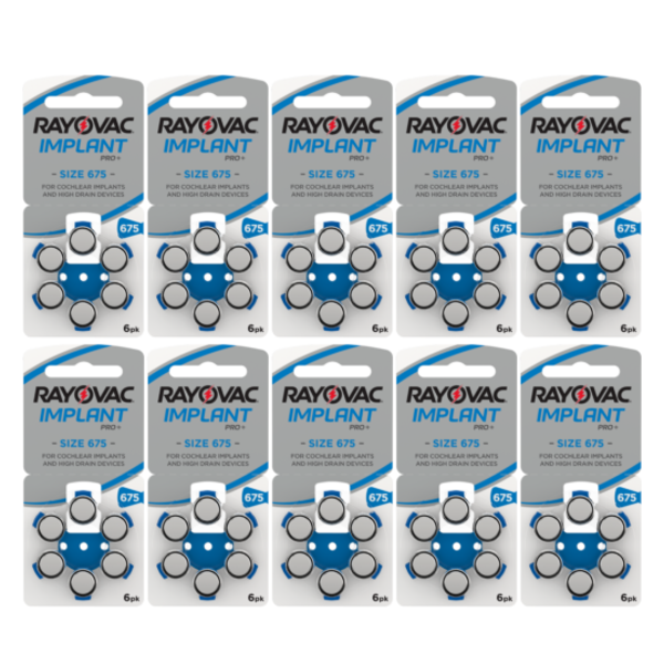 Hoorbatterij 675 BLAUW Cochlear Implant Pro Plus + (60 stuks)