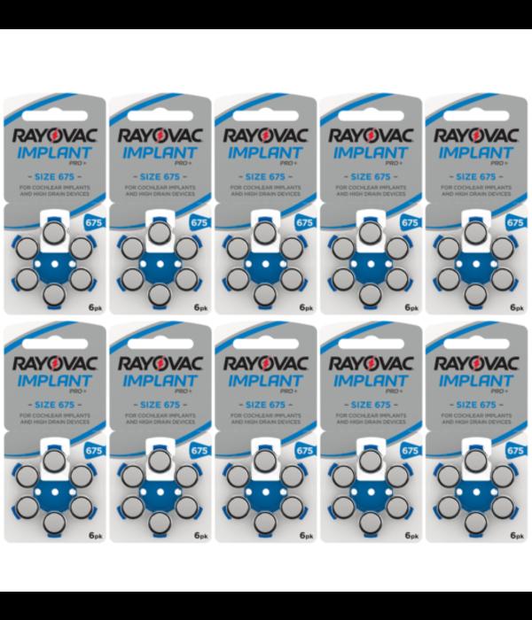 Rayovac Hoorbatterij 675 BLAUW Cochlear Implant Pro Plus + (60 stuks)