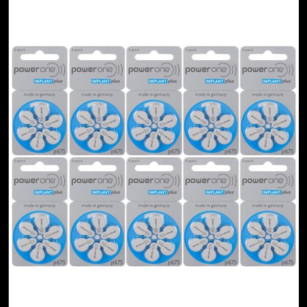 Hoorbatterij 675 BLAUW Cochlear Implant Plus Cl (60 stuks)