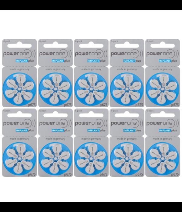 PowerOne Hoorbatterij 675 BLAUW Cochlear Implant Plus Cl (60 stuks)