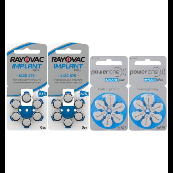 Proefpakket Cochlear Implant Plus hoorbatterij No. 675 BLAUW