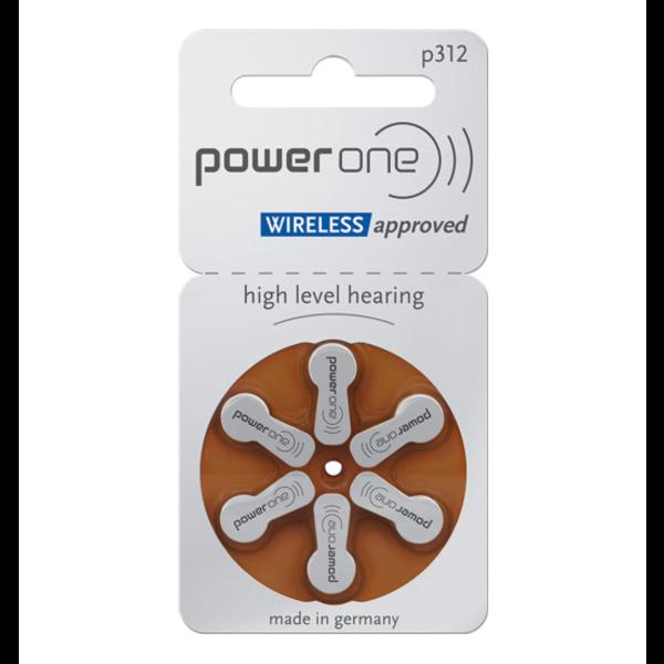Hoorapparaat batterij P312 bruin (6 stuks)