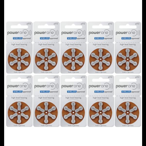 Hoorapparaat batterij P312 bruin (60 stuks)