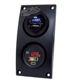 Talamex Curved add-on paneel met dubbele USB aansluiting en accu indicator