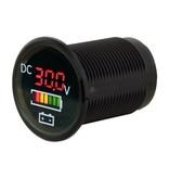 Talamex Flush frame met voltmeter en accu indicator 5-30V