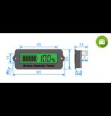 Accu capaciteit meter 12 - 24 volt