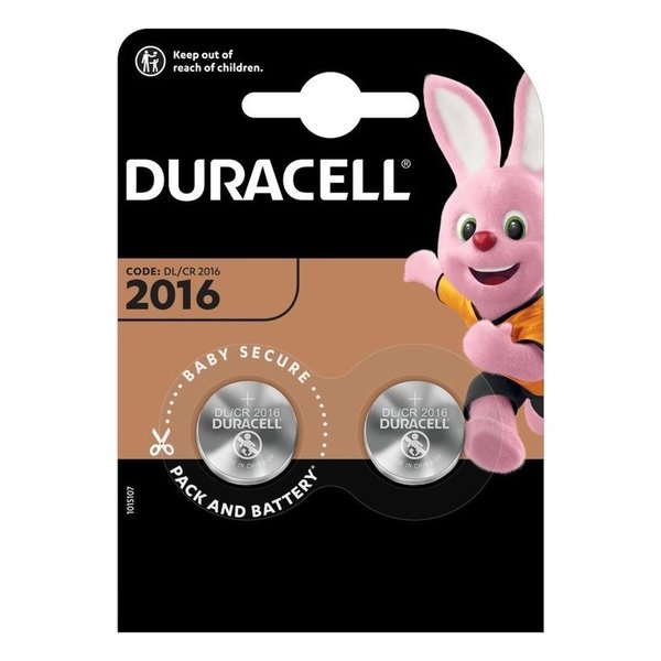 Knoopcel batterij CR2016 blister 2