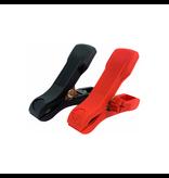 Set kleine accuklemmen rood & zwart
