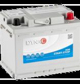 Dynac Auto accu AGM 12 volt 60 ah start - stop