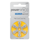 PowerOne Hoorapparaat batterij P10 geel (6 stuks)
