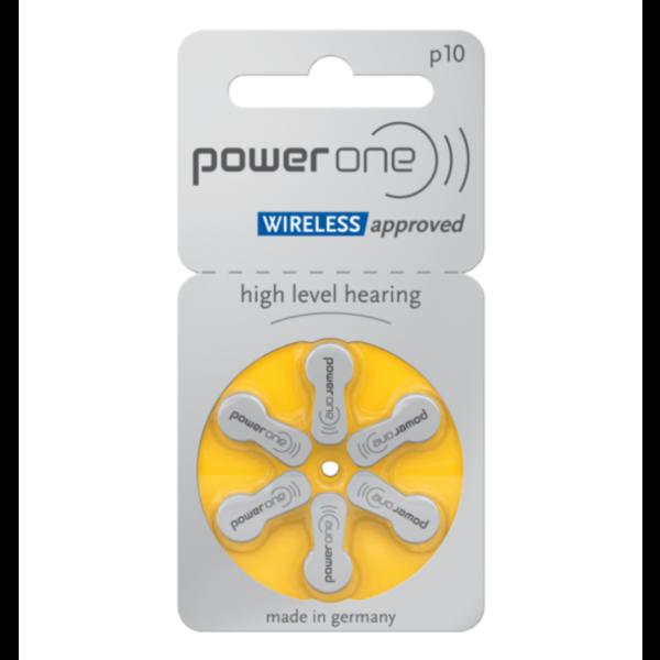 Hoorapparaat batterij P10 geel (6 stuks)