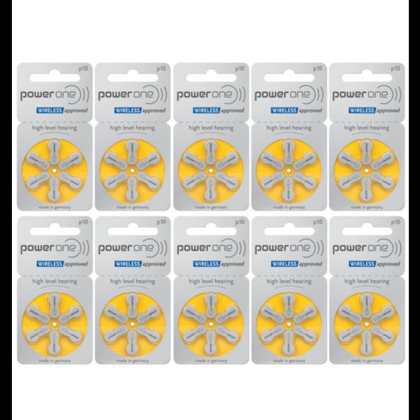 Hoorapparaat batterij P10 geel (60 stuks)