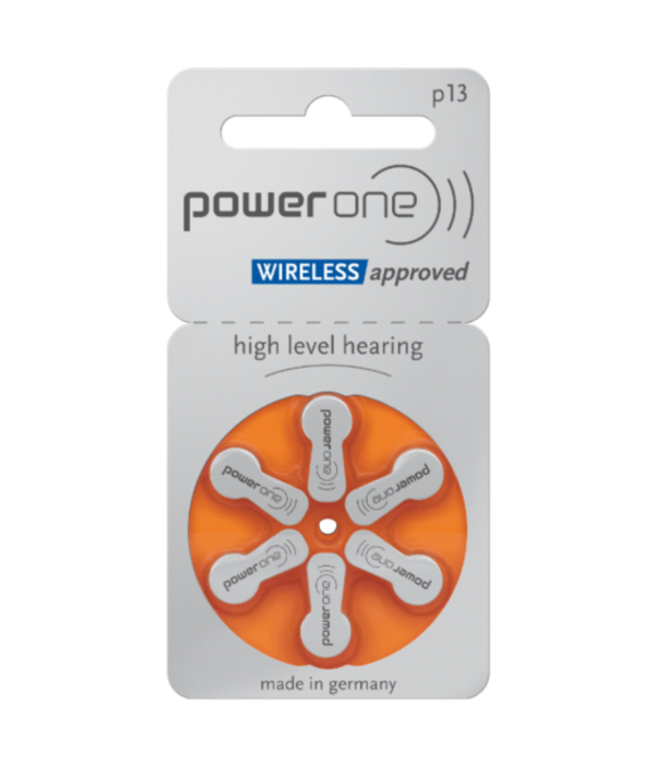 PowerOne Hoorapparaat batterij P13 oranje (6 stuks)
