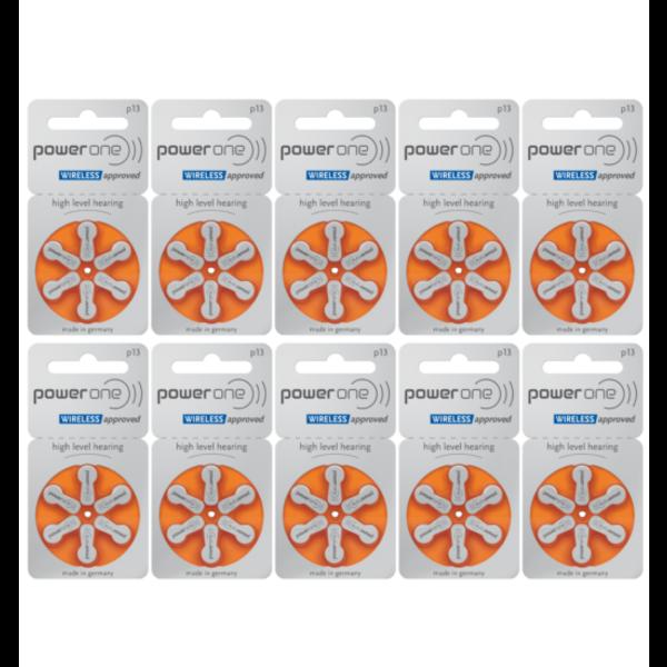 Hoorapparaat batterij P13 oranje (60 stuks)