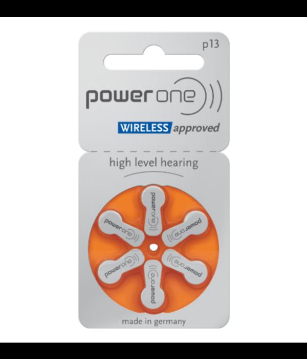 PowerOne Hoorapparaat batterij P13 oranje (60 stuks)