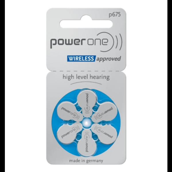 Hoorapparaat batterij P675 blauw (6 stuks)
