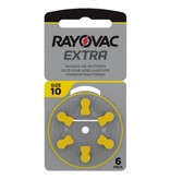 Rayovac Hoorapparaat batterij 10AU geel (6 stuks)