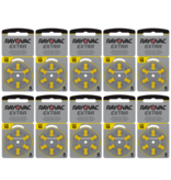 Rayovac Hoorapparaat batterij 10AU geel (60 stuks)
