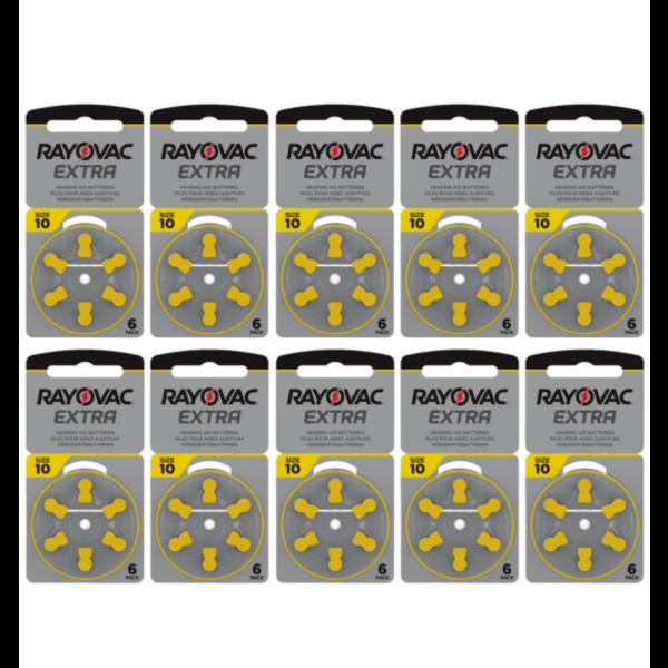 Hoorapparaat batterij 10AU geel (60 stuks)