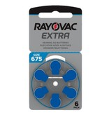 Rayovac Hoorapparaat batterij 675AU blauw (6 stuks)