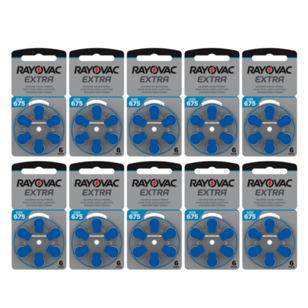 Hoorapparaat batterij 675AU blauw (60 stuks)