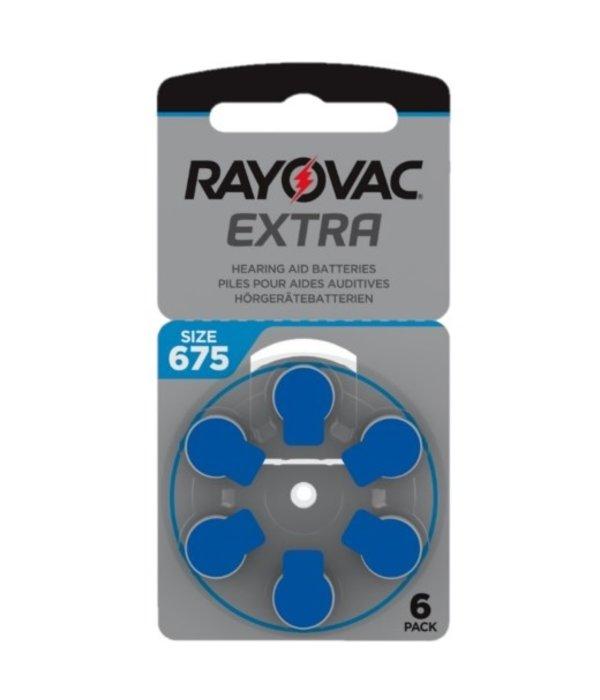Rayovac Hoorapparaat batterij 675AU blauw (60 stuks)