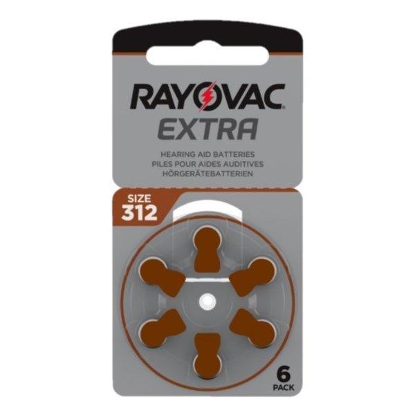 Hoorapparaat batterij 312AU bruin (6 stuks)