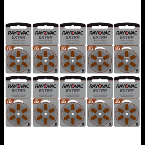 Hoorapparaat batterij 312AU bruin (60 stuks)