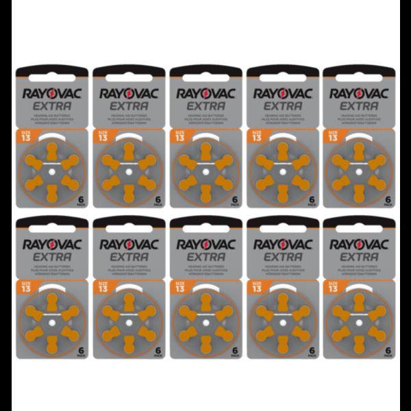 Hoorapparaat batterij 13AU oranje (60 stuks)
