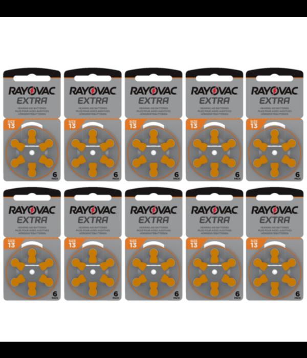 Rayovac Hoorapparaat batterij 13AU oranje (60 stuks)