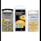 Proefpakket: 3 pakjes met 6 batterijen No. 10 geel