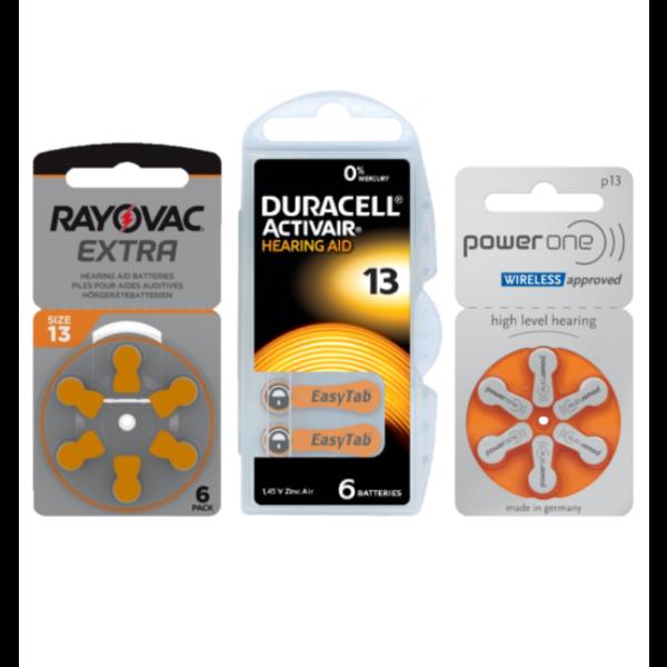 Proefpakket No. 13 hoorbatterij ORANJE