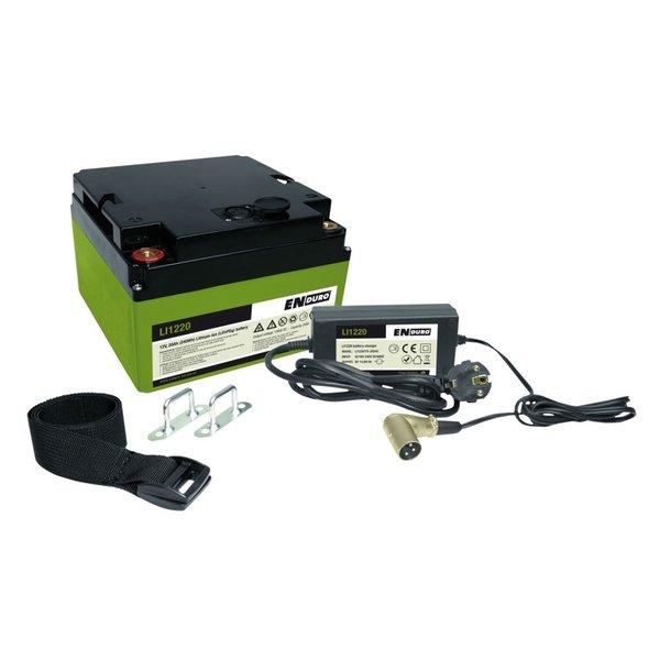 Enduro Lithium LI1220 LiFePO4 accu 12 volt 20 ah Battery Pack