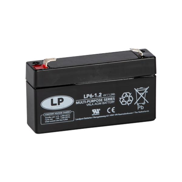 VRLA-LP accu 6 volt 1,2 ah LP6-1 2