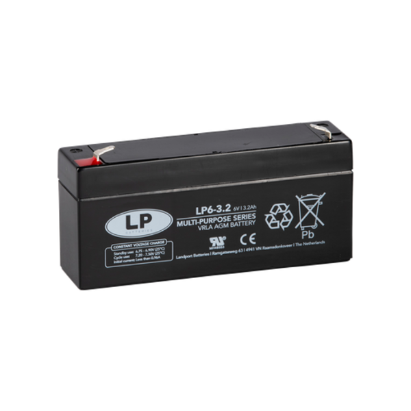 VRLA-LP accu 6 volt 3,2 ah LP6-3 2