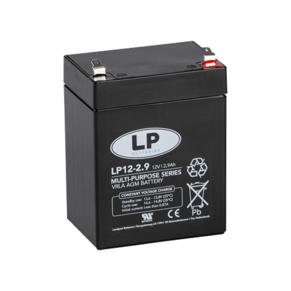VRLA-LP accu 12 volt 2,9 ah LP12-2 9
