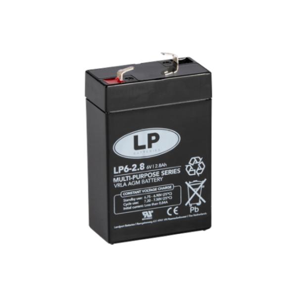 VRLA-LP accu 6 volt 2,8 ah LP6-2 8