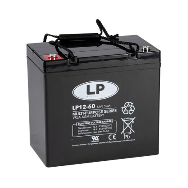 VRLA-LP accu 12 volt 55 ah LP12-60