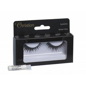CHRISTIAN FAYE Fake Eyelashes with glue - Ailsa